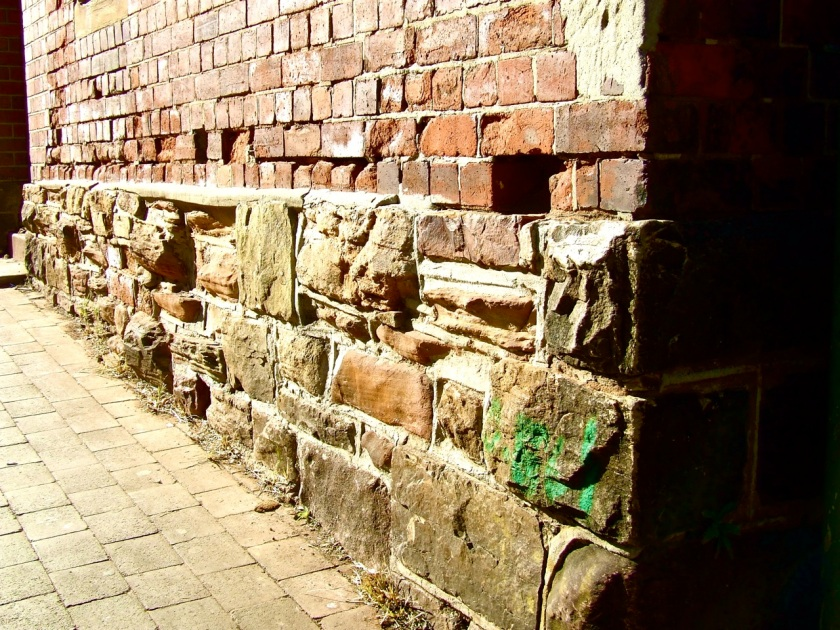 Part of the original wall surrounding the old johannesburg general hospital.