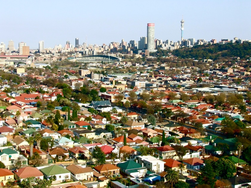 Johannesburg and eastern suburbs viewed from the top of Langeman's Kop