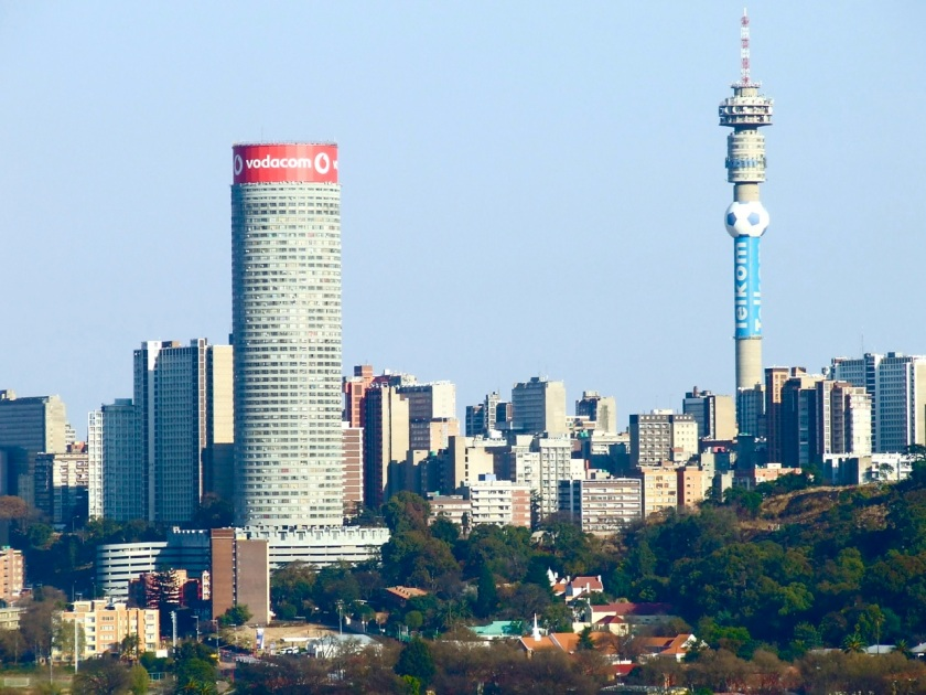 Hillbrow and Berea viewed from the top Langeman's Kop, Kensington, Johannesburg
