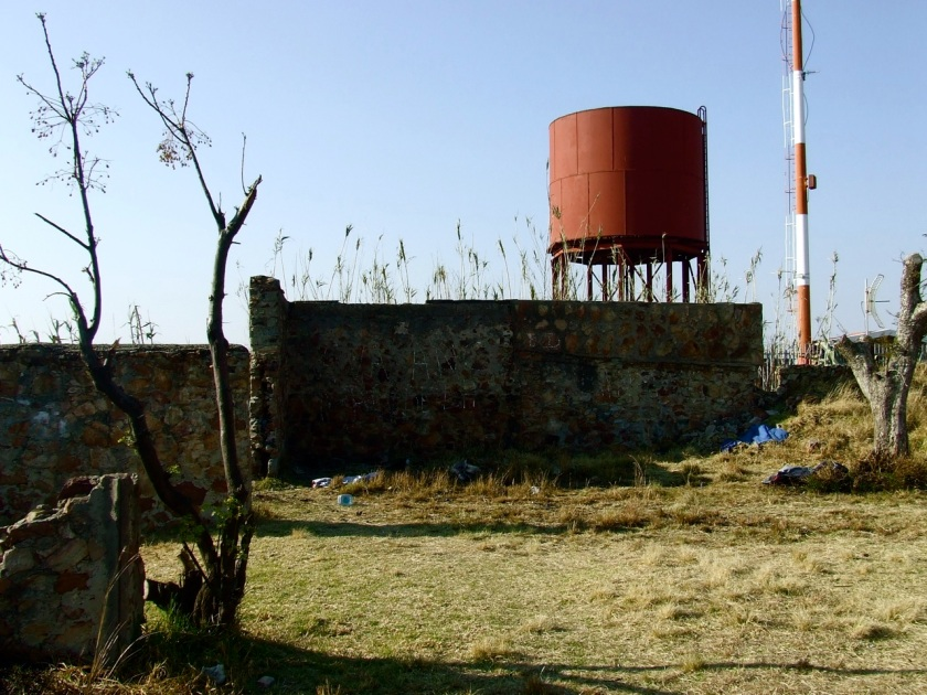 ruins of langeman's hotel on top of langeman's kop, johannesburg