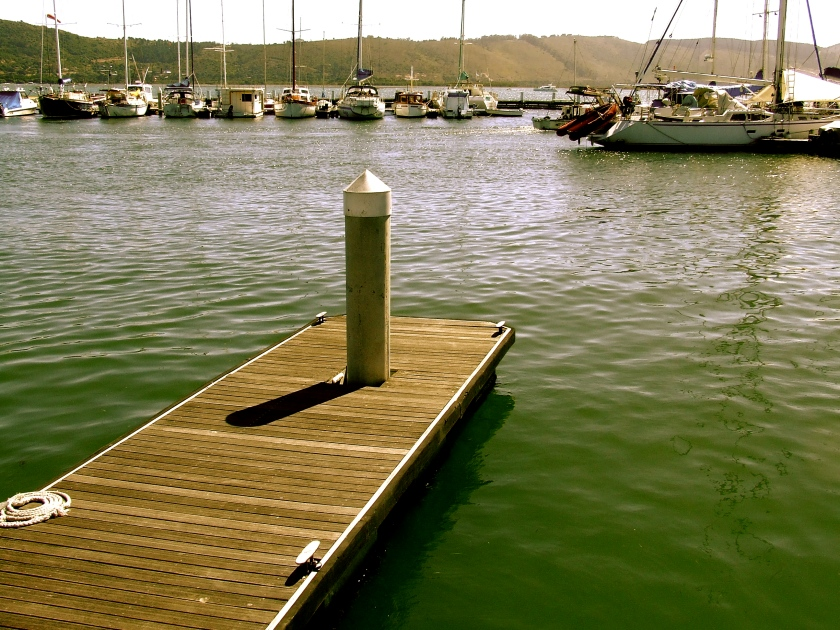jetty and small craft in knysna harbour