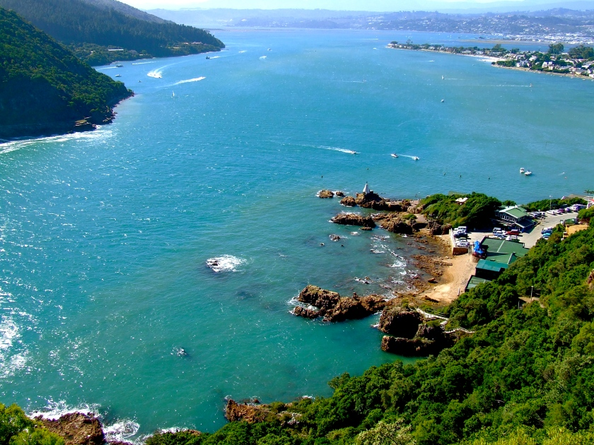 a view of knysna lagoon from the top of the eastern head