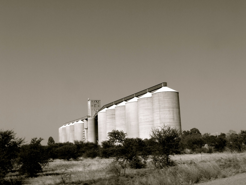 grain silo in the south african platteland