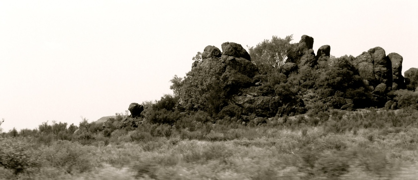 rocky outcrop north west province south africa