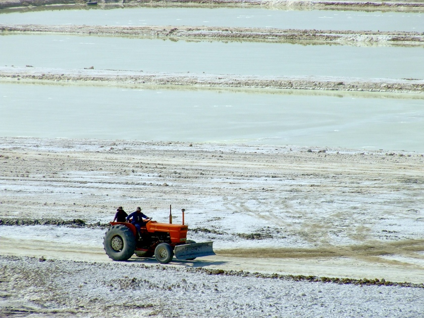 salt mining in the kalahari