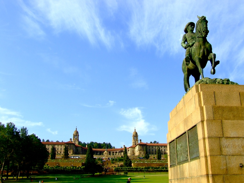 statue of gen louis botha, union buildings, pretoria