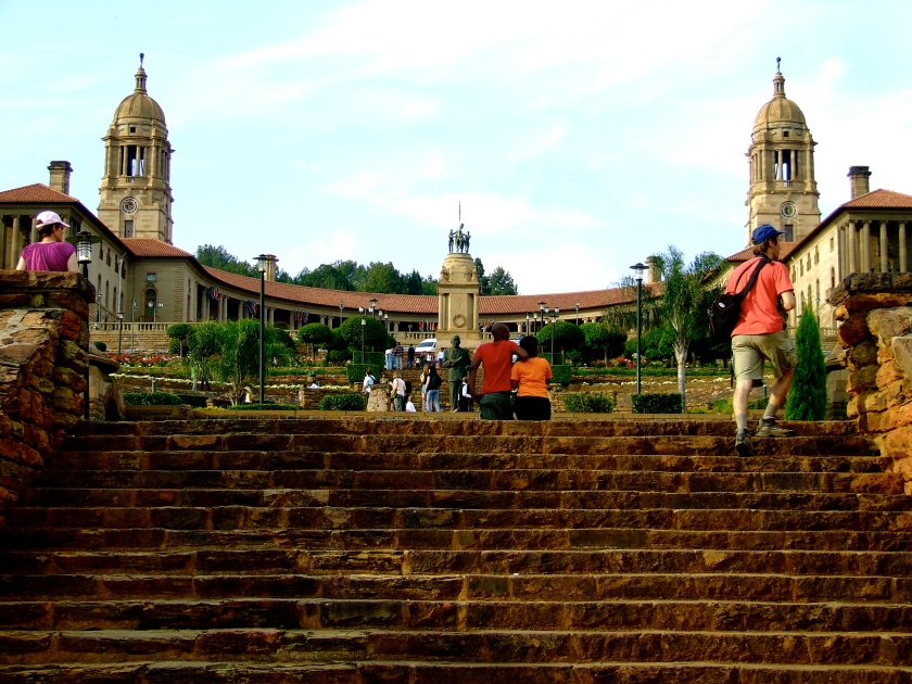 steps leading to the union buildings, pretoria