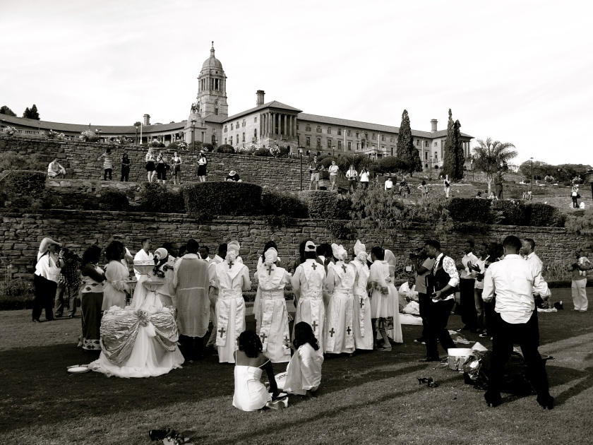 a wedding ceremony at the union buildings, pretoria