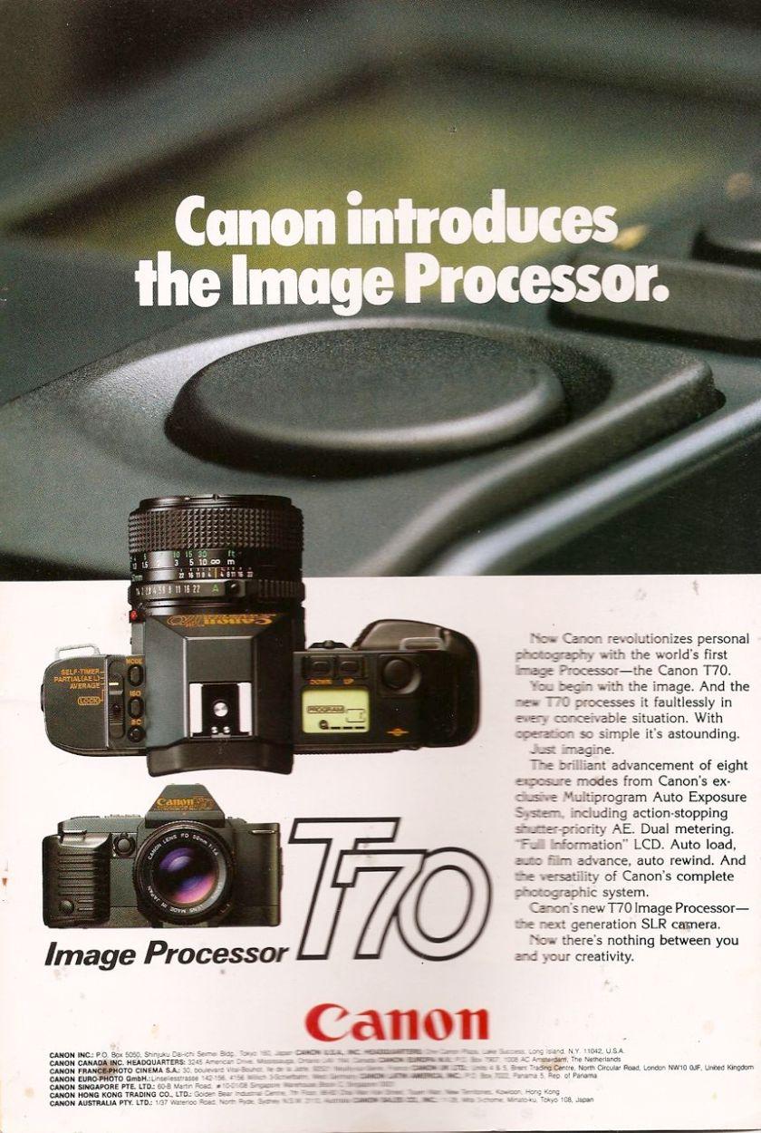 canon t70 camera ad