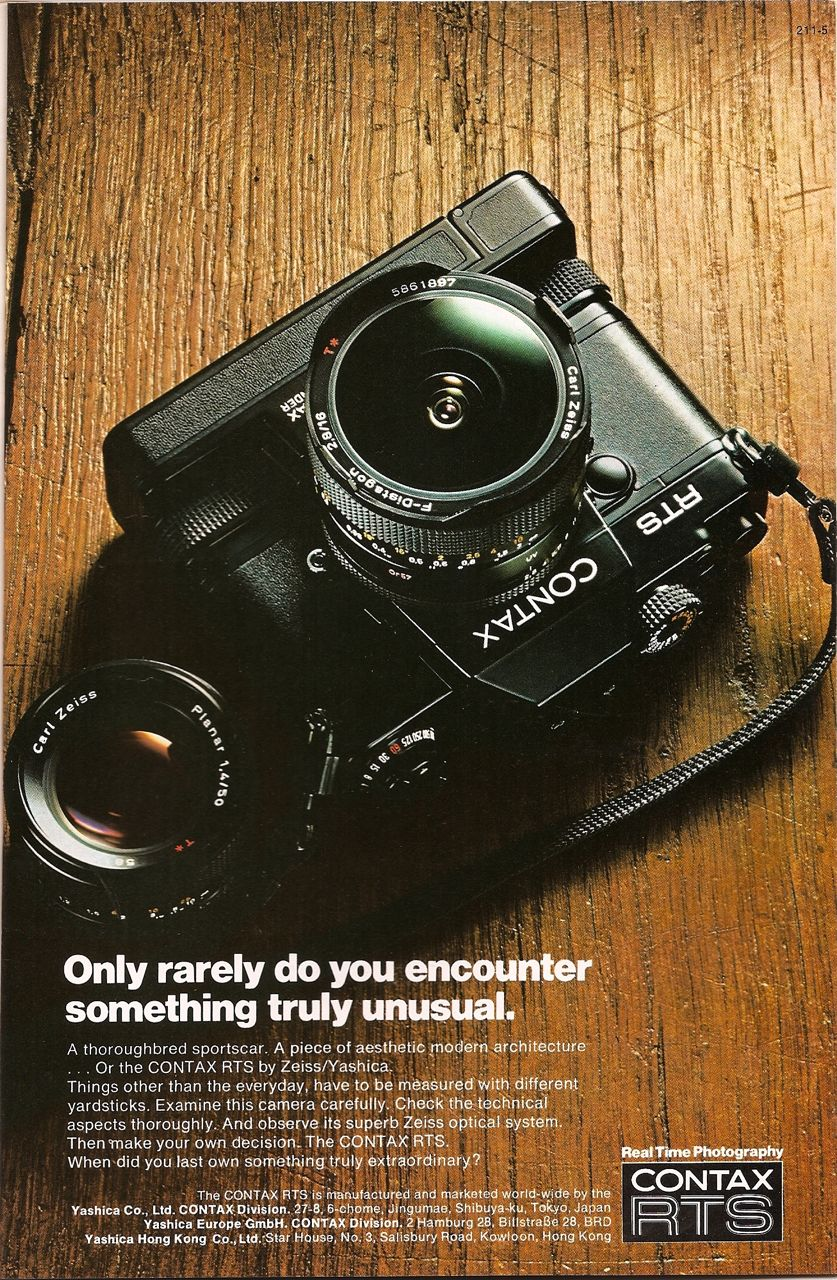 contax rts 35mm slr print ad in national geographic