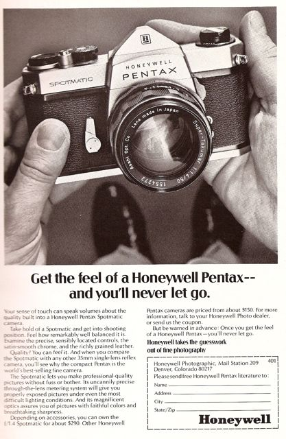 Honeywell Pentax Spotmatic old magazine ad 60s national geographic
