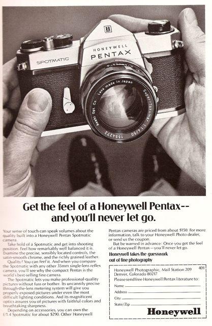 Honeywell Pentax Spotmatic old magazine ad 60s national geographic