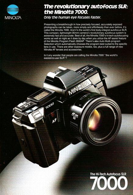 minolta maxxum dynax 7000 autofocus 35mm camera national geographic