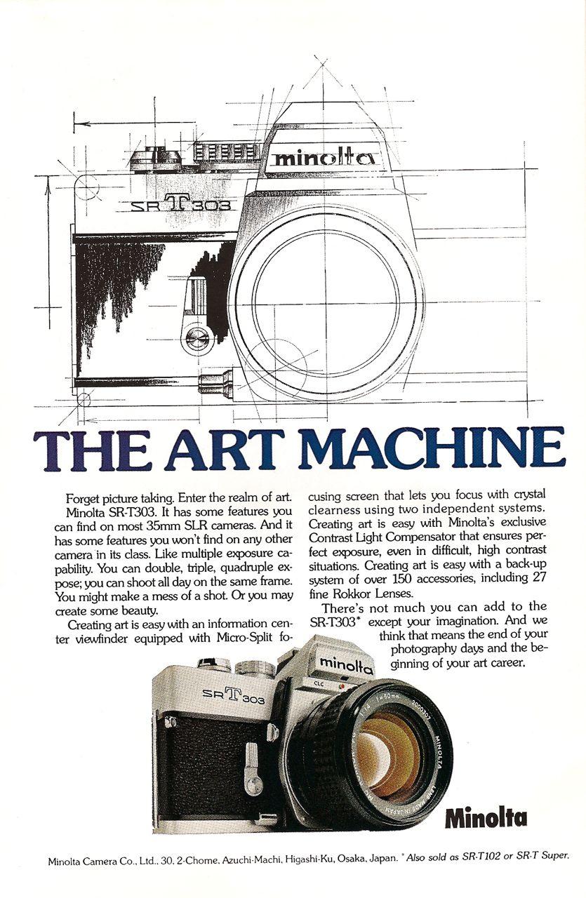 minolta 35mm slr camera ad art machine