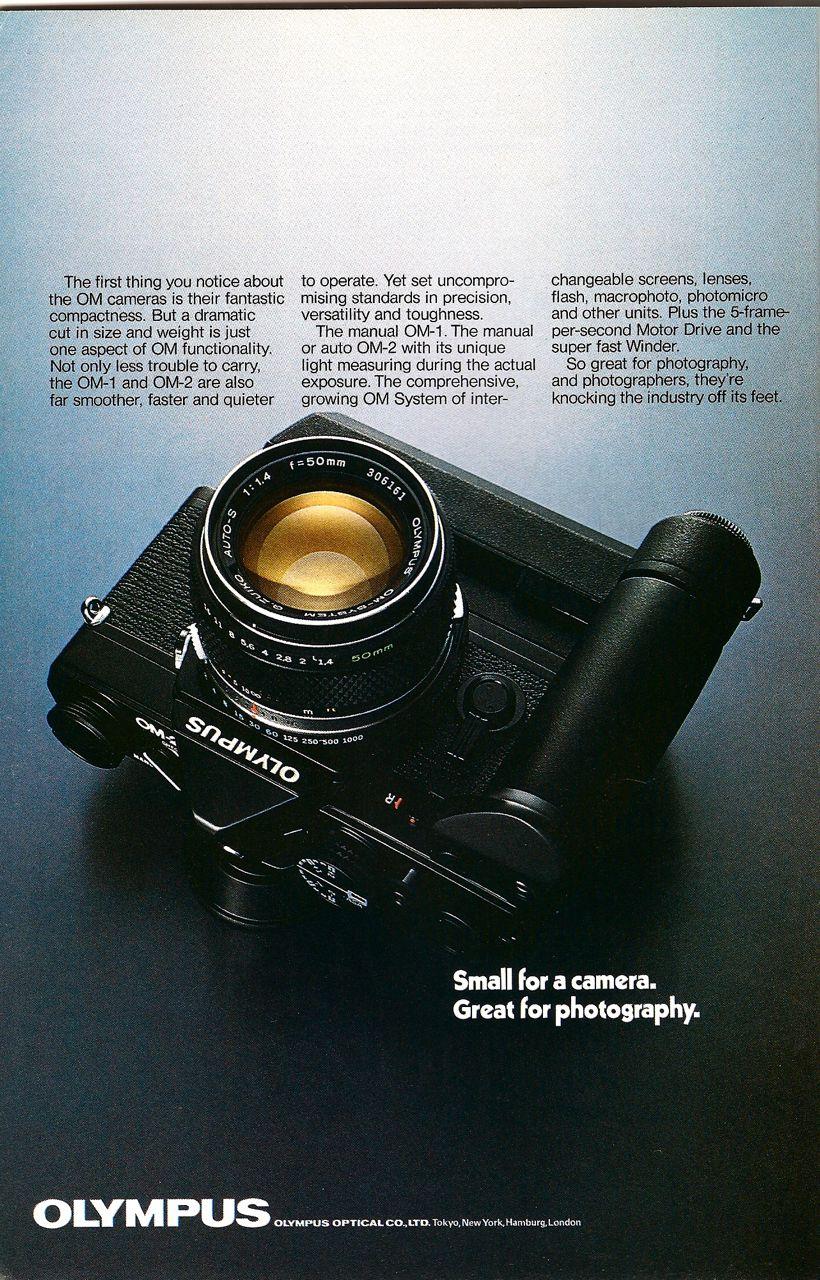 olympus om1 camera ad