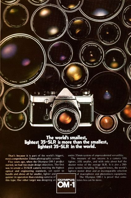 olympus om 1 advertisement national geographic