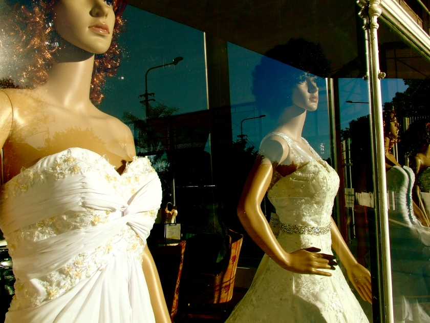 bridal gowns in shop window mellville johannesburg