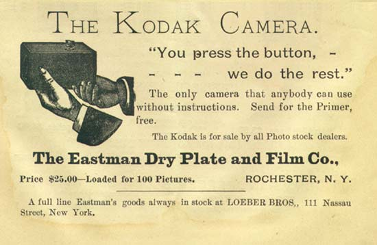 eastman kodak you press the button we do the rest