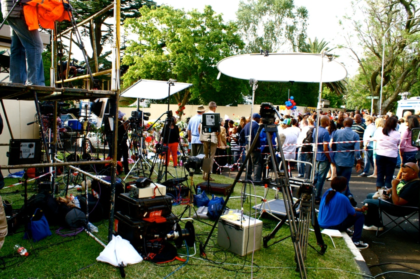 media outside mandela residence houghton johannesburg