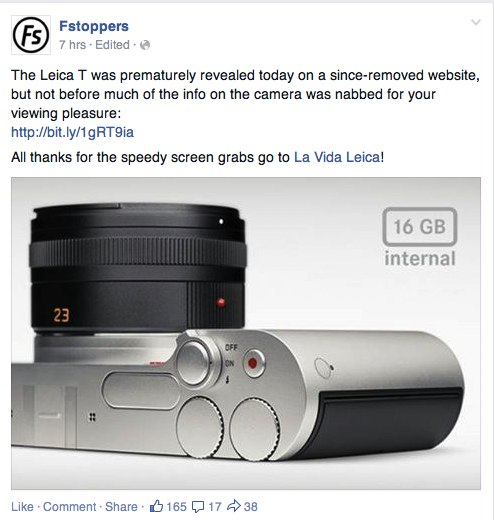 F-Stoppers spread nonsense leica rumor