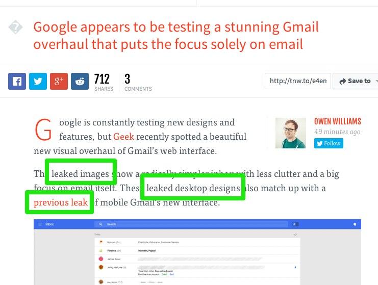 google's new e-mail design leaked