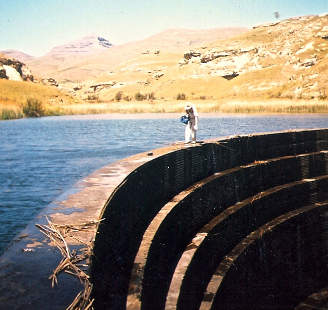 dam wall golden gate national park free state south africa