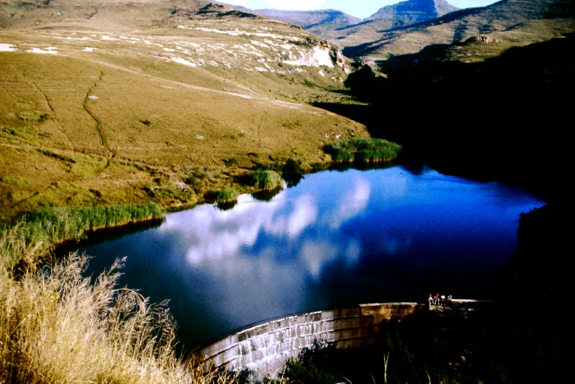 dam in golden gate national park, free state, south africa