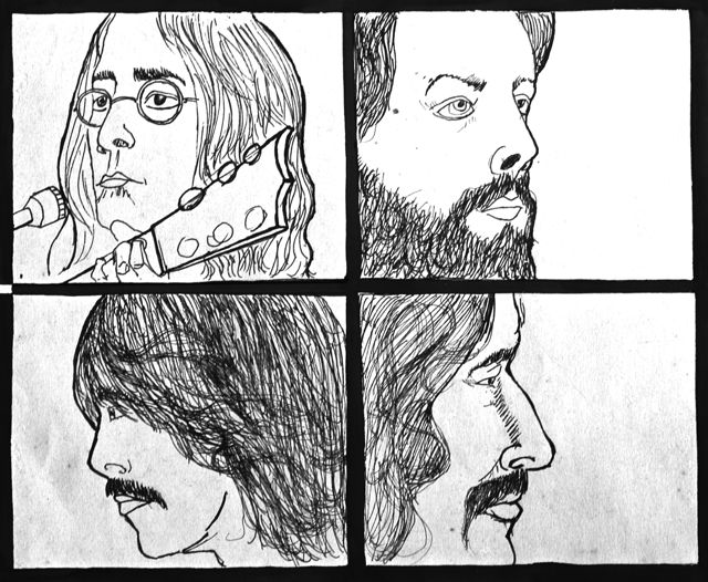 drawings from beatles let it be