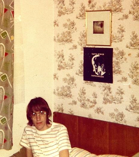 my bedroom during my art school days