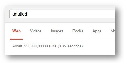 search results volume for term untitled