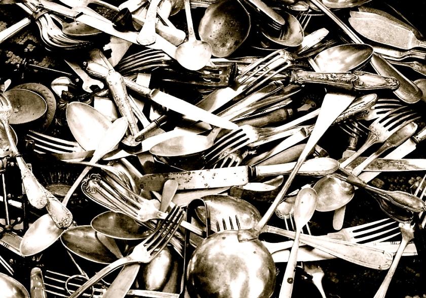 flea market cutlery shot illford c41