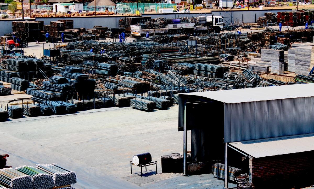 The Scaffolding Supplier's Yard