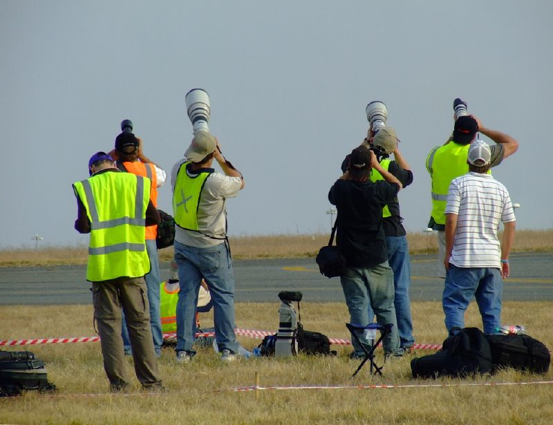 Press photogs at an airshow
