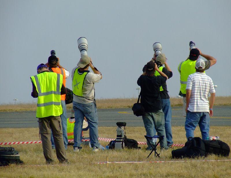 Press photogs at an airshow