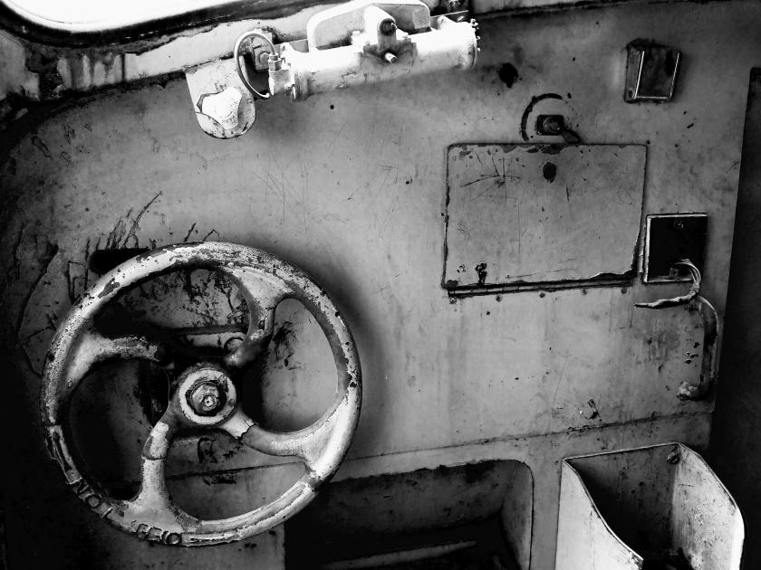 interior of a diesel loco cabin
