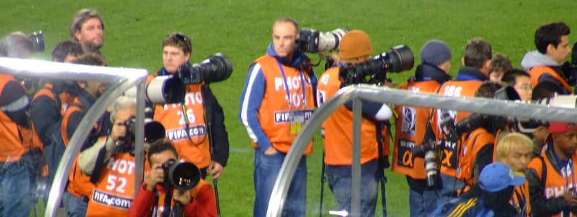 Photographing the Confederations Cup soccer tournament final, Loftus Versveld, June 2009