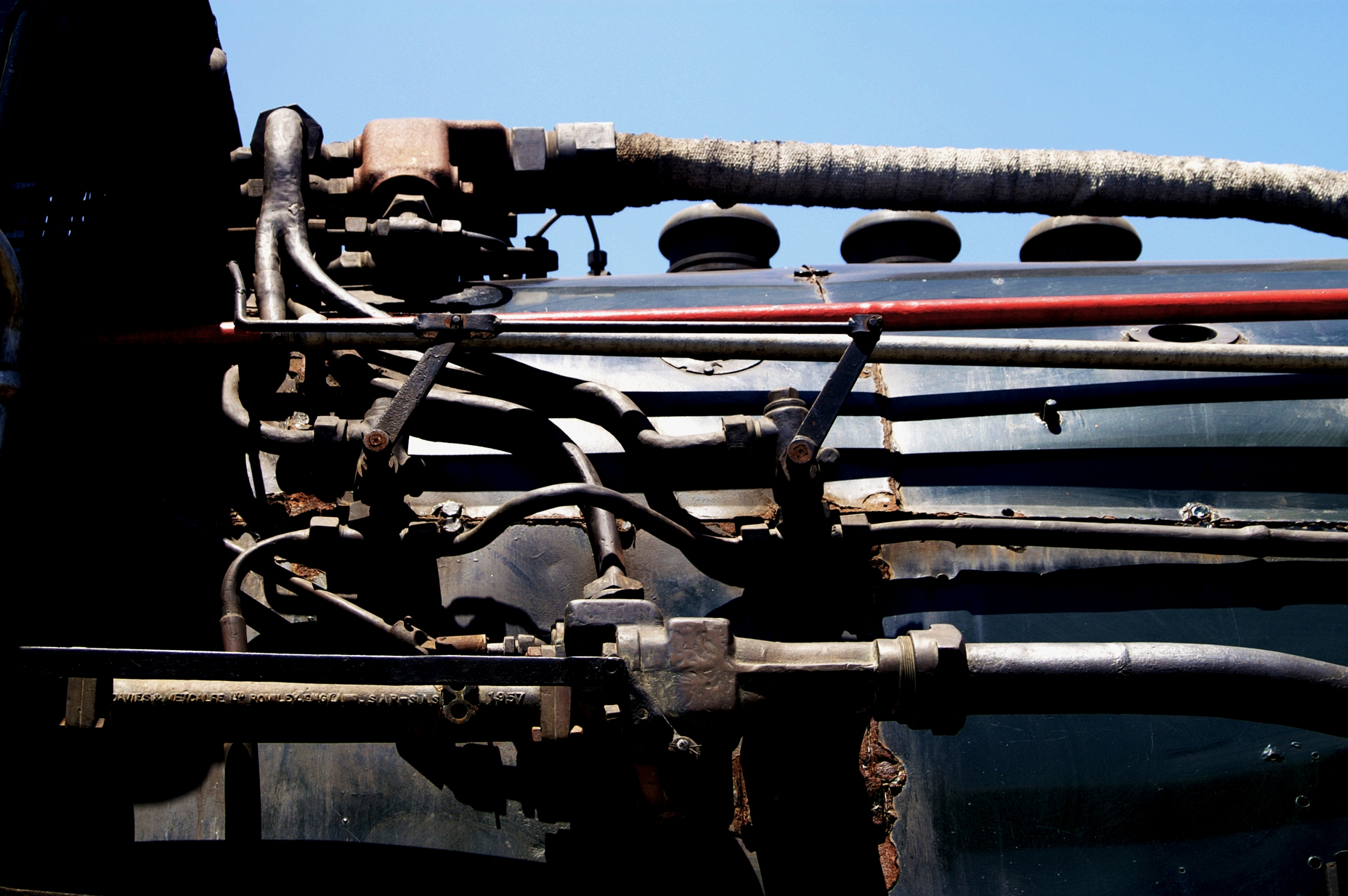 piping on a steam locomotive