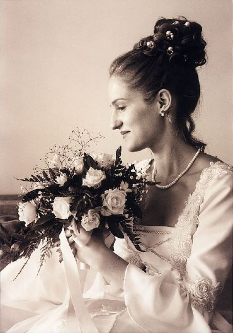 wedding photograph in the analogue days