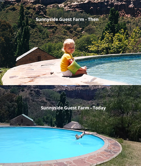 swimming pool at sunnyside guest farm clarens eastern free state