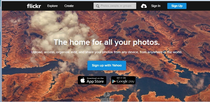 flickr home page